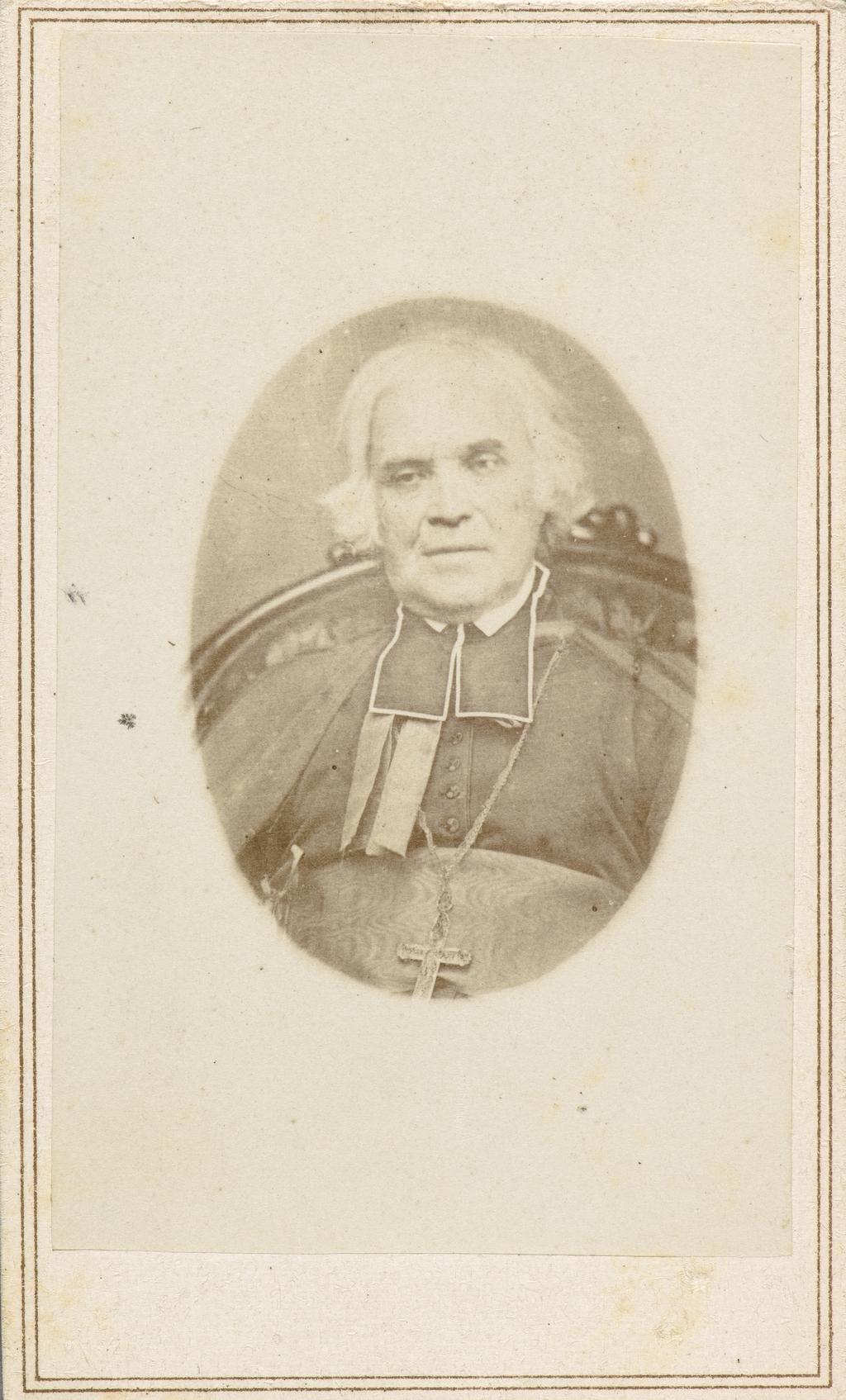 Monseigneur Pierre-Flavien Turgeon. Photographie d'un daguerréotype, de l'album de collection dit de Napoléon Garneau