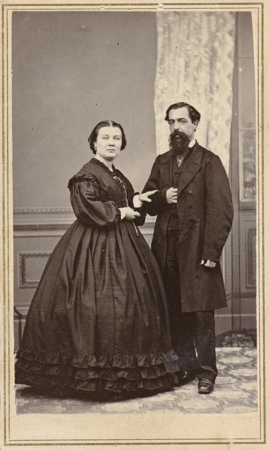 Louis Lamontagne et son épouse, de l'album de collection dit de Napoléon Garneau