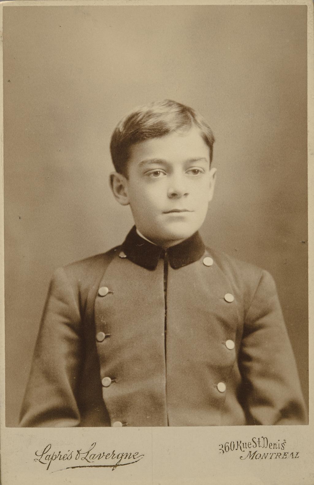 René Lavergne, enfant