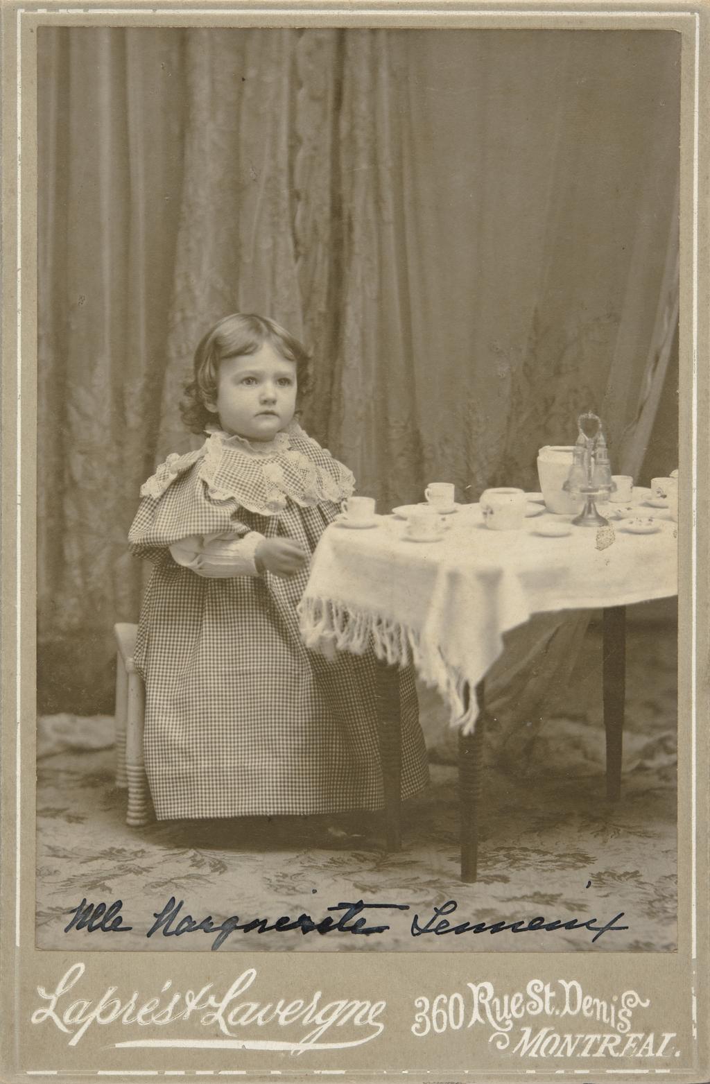 Marguerite Lemieux, enfant