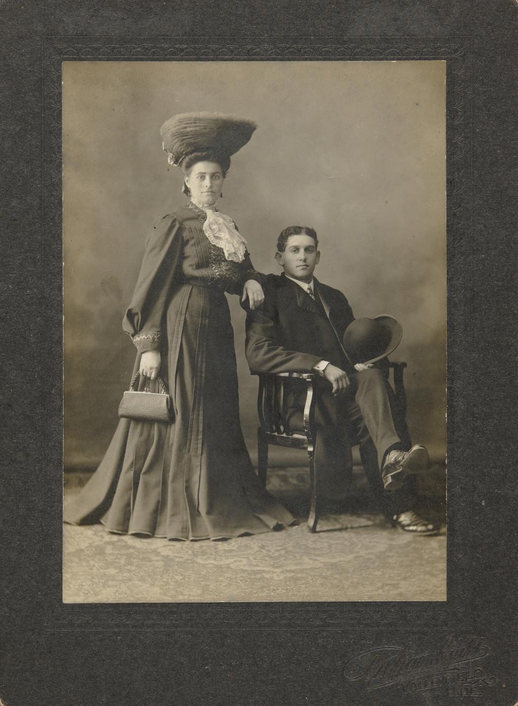 Euclide Leduc et son épouse, née Maria Marin