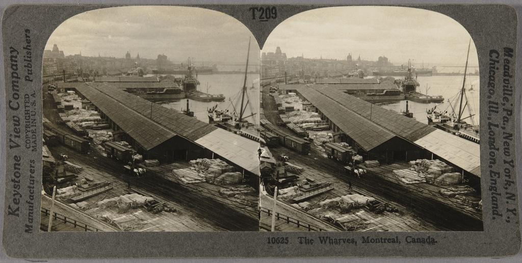 Les Entrepôts et les quais au port de Montréal, de la North American Series