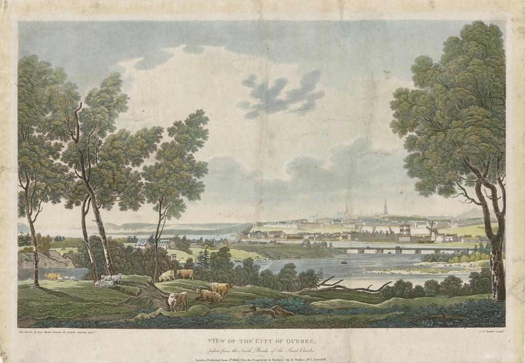 La Ville de Québec vue de la rive nord de la rivière Saint-Charles