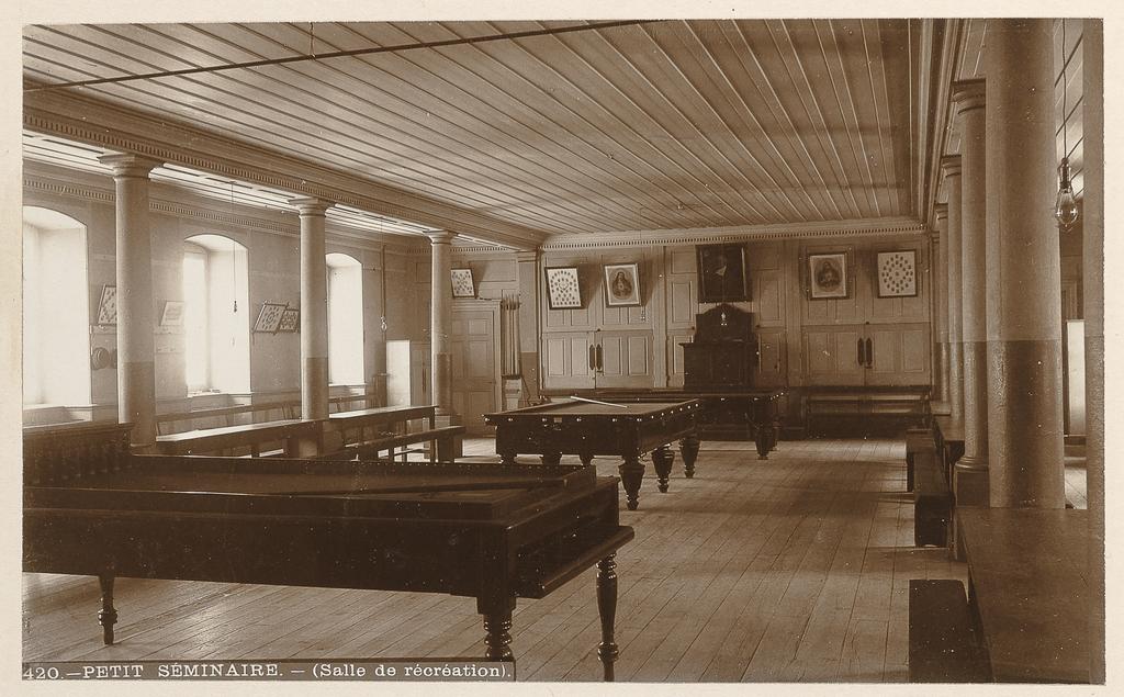 La Salle de récréation du Petit Séminaire, Québec, de l'album Maisons d'éducation de la province de Québec