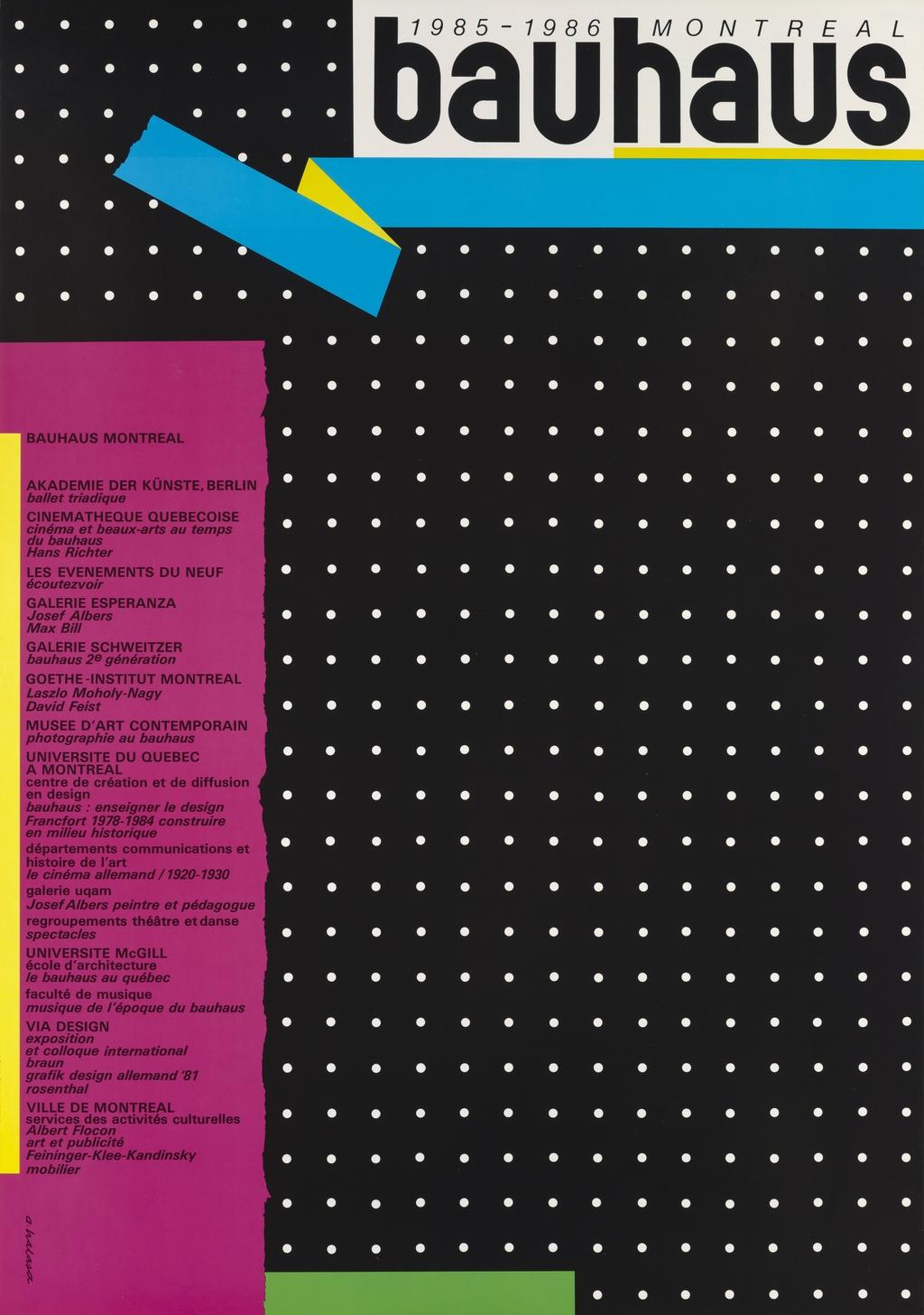 Bauhaus 1985-1986, Montréal
