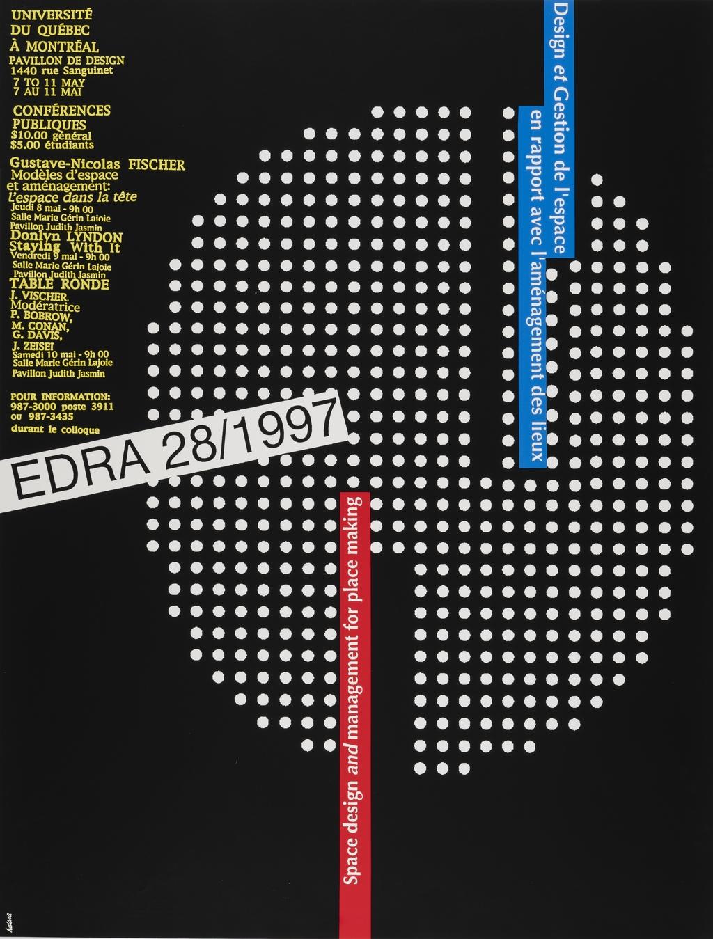 EDRA 28/1997. Design et gestion de l'espace en rapport avec l'aménagement des lieux