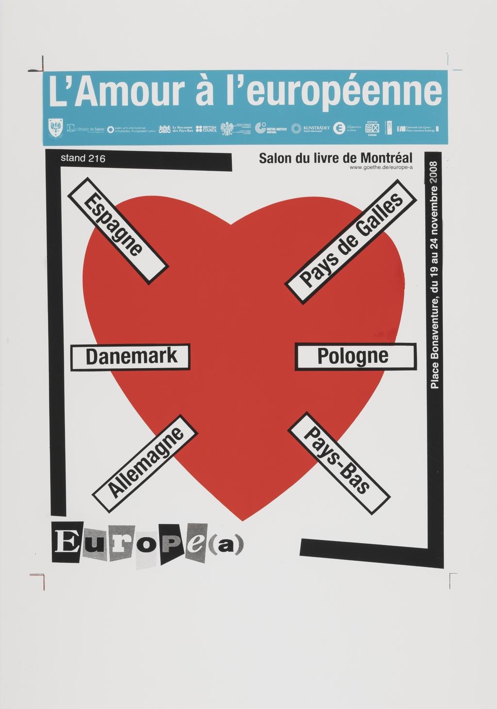 L'Amour à l'européenne. Salon du livre de Montréal 2008