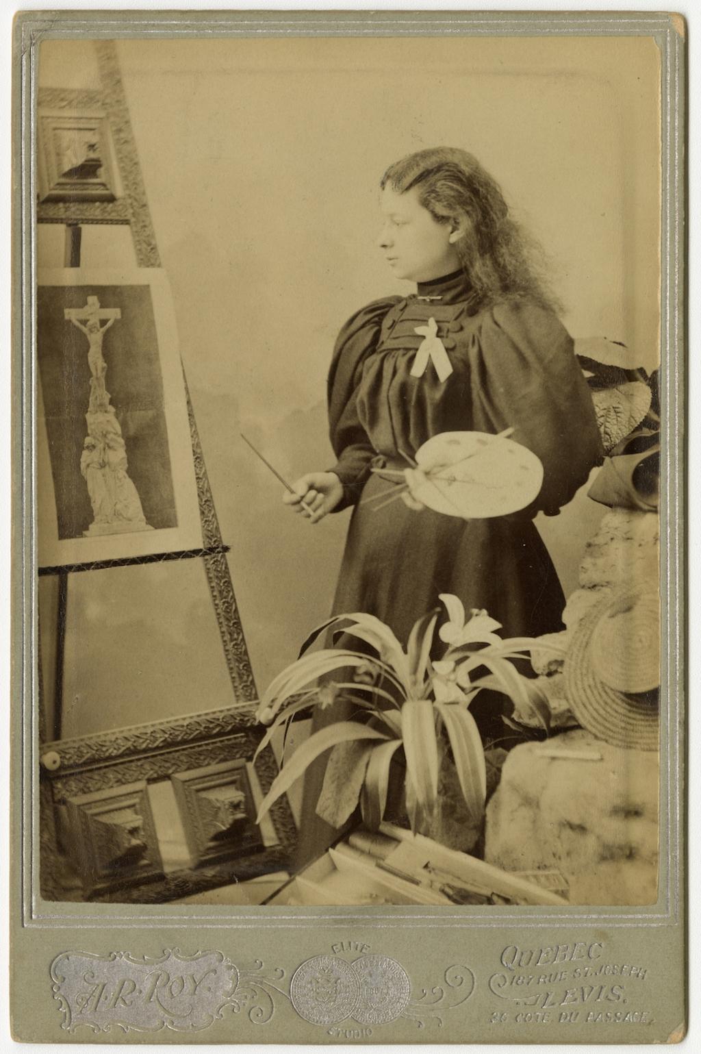 Portrait d'une jeune peintre