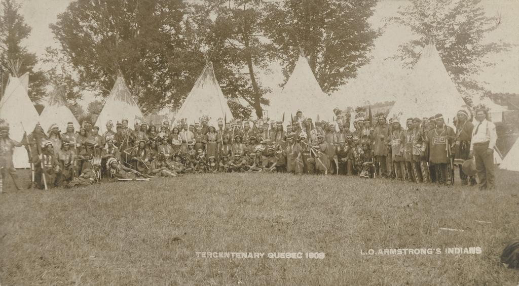 Les Indiens de L. O. Armstrong, un tableau du tricentenaire de Québec
