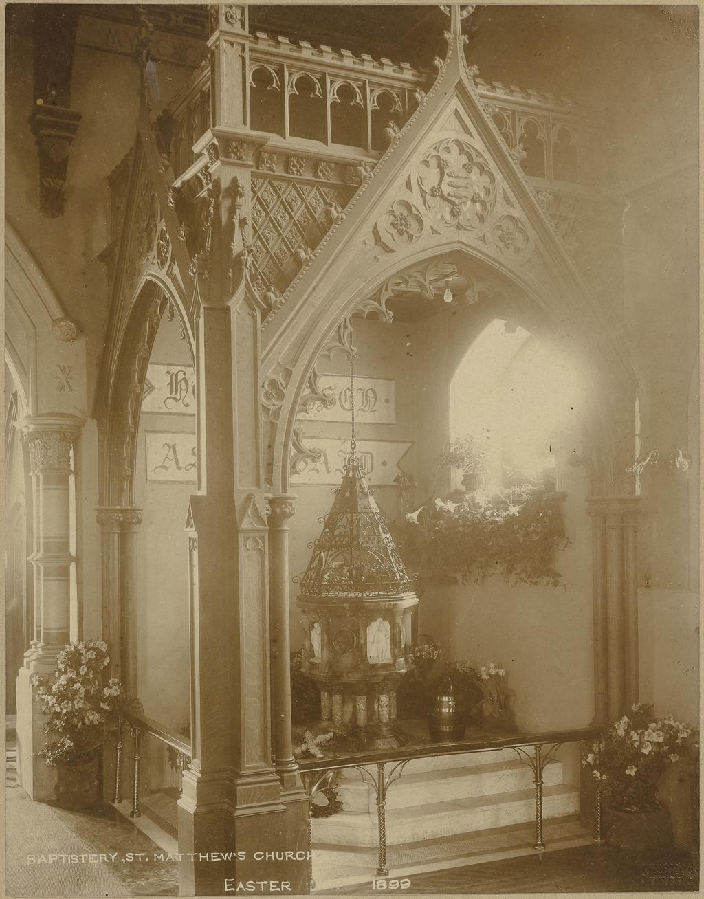 Le Baptistère de l'église Saint-Matthew's, Québec