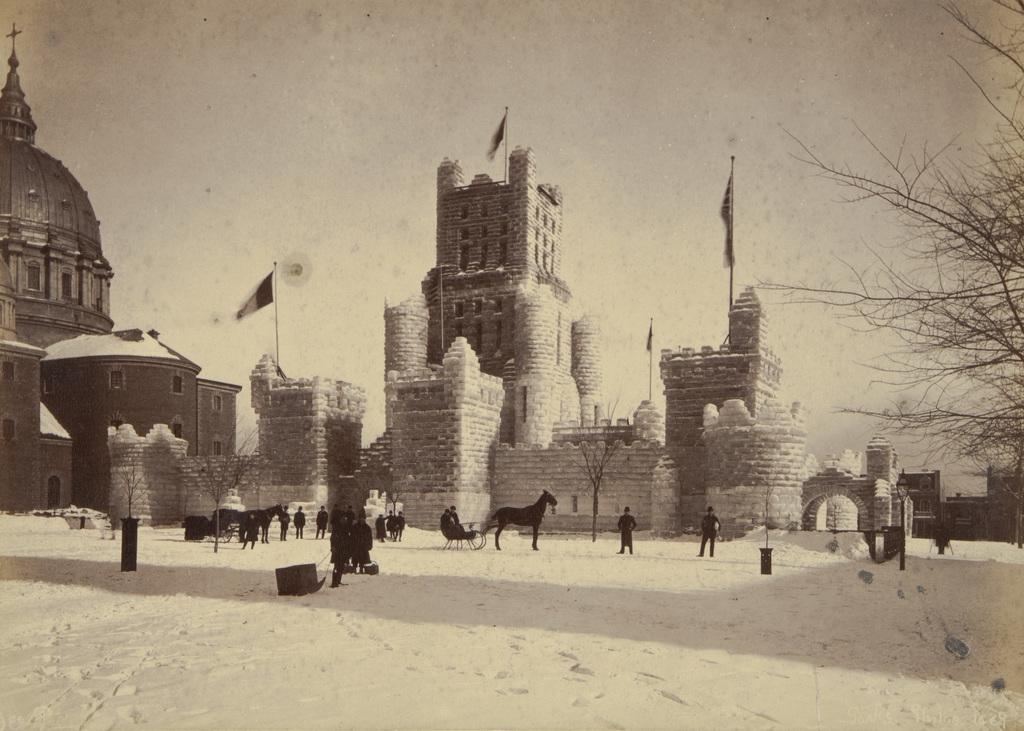 Le Palais de glace, carnaval de Montréal, extrait d'un album