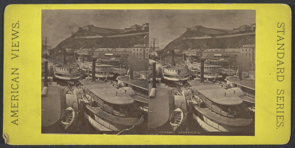 La Citadelle de Québec vue du quai Richelieu, Québec, de la série « American Views »
