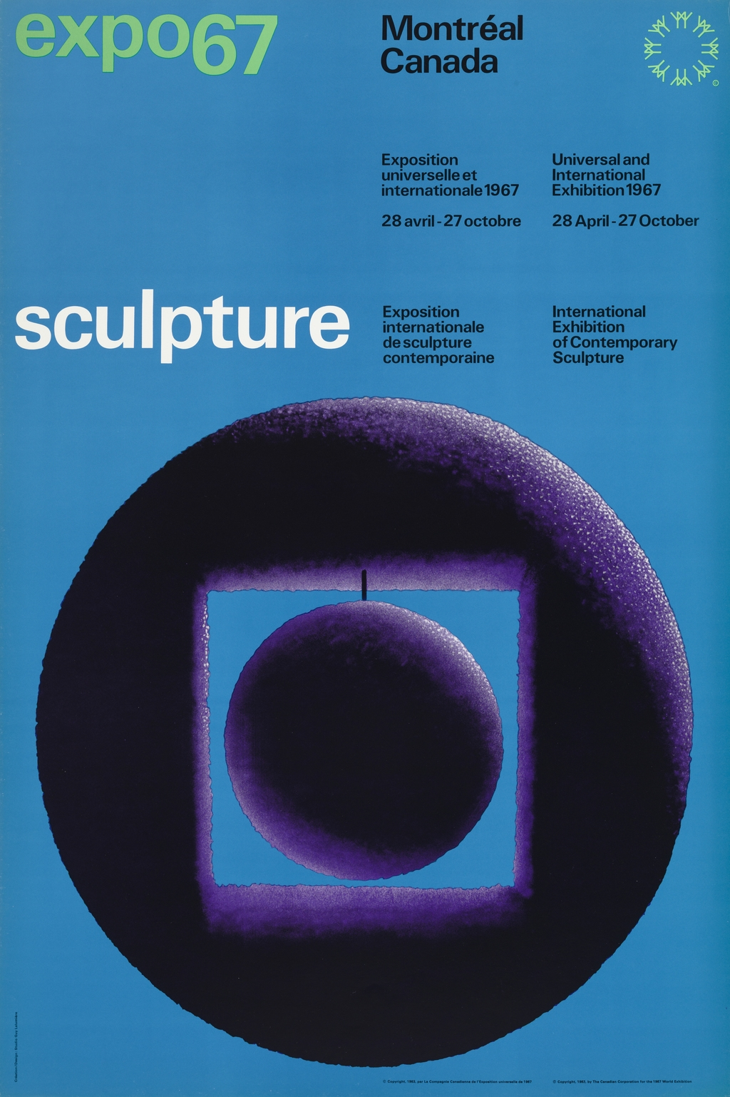 Affiche « Expo 67. Sculpture »