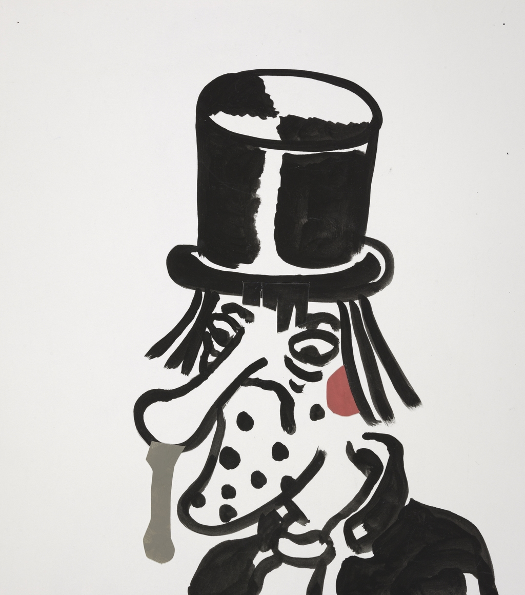 Top Hatted Portrait with Dripping Nose