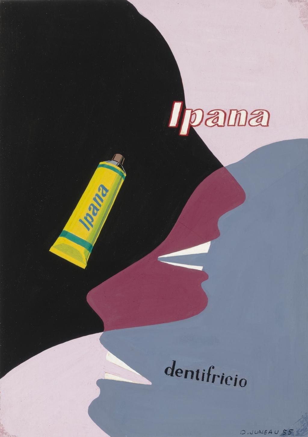 Étude pour affiche publicitaire (dentifrice Ipana)