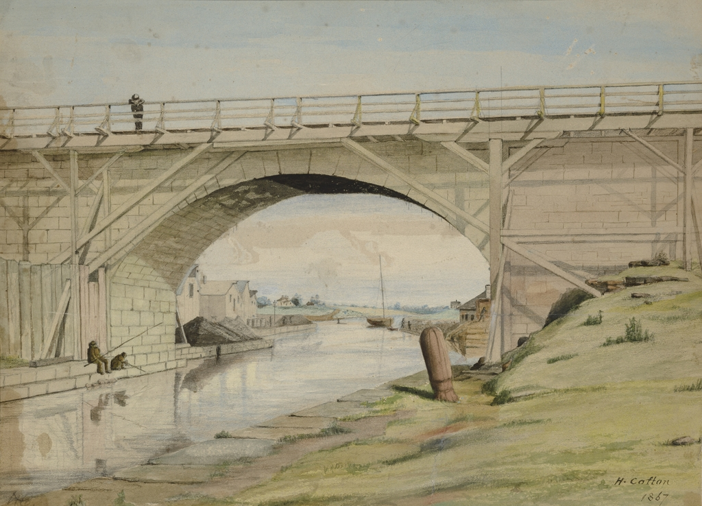 Vue du canal Rideau sous le pont des Sapeurs, Ottawa