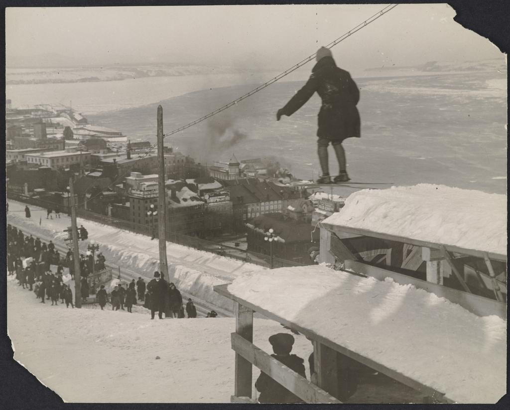 Saut à ski sur les glacis de la Citadelle de Québec