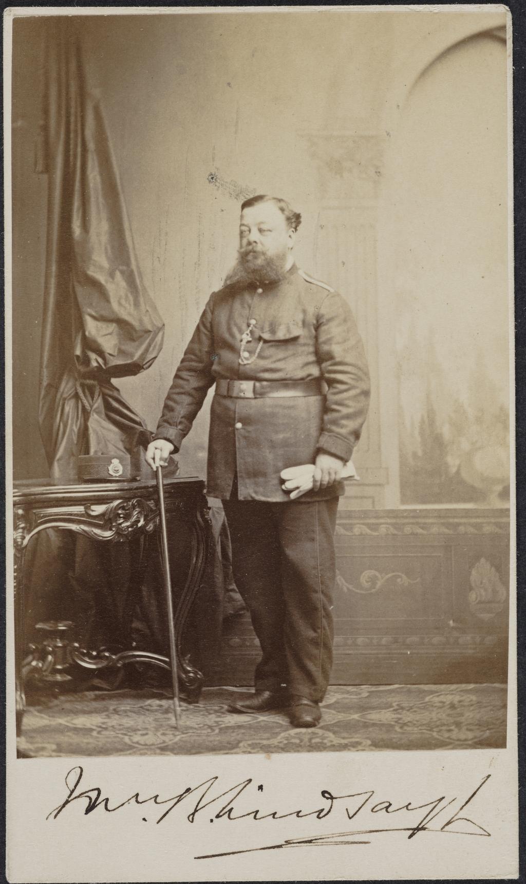 Portrait de militaire, de l'album de collection dit de Richard Alleyn