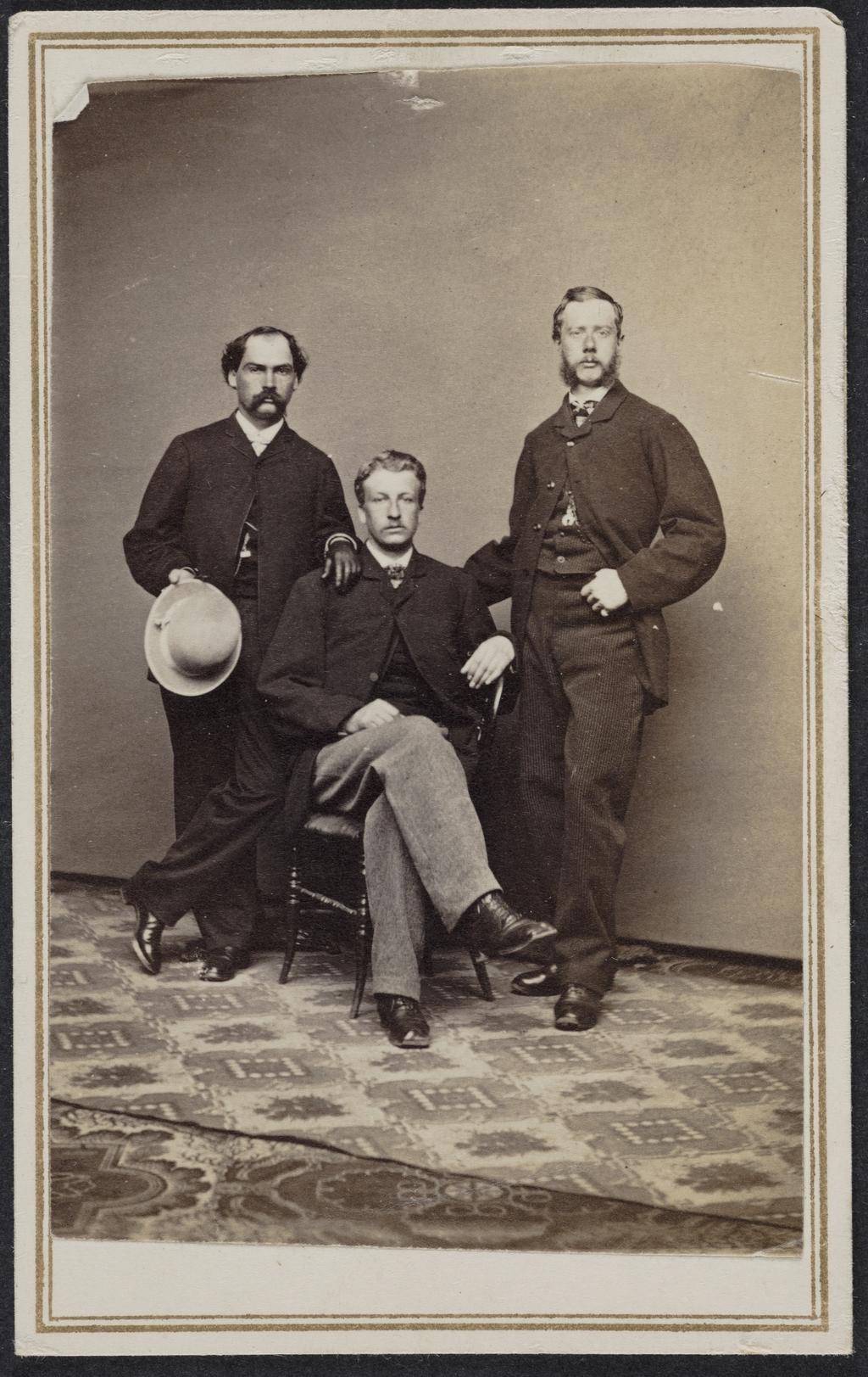 Marentelle, Fred Fraser et Paulin, de l'album de collection dit de Richard Alleyn