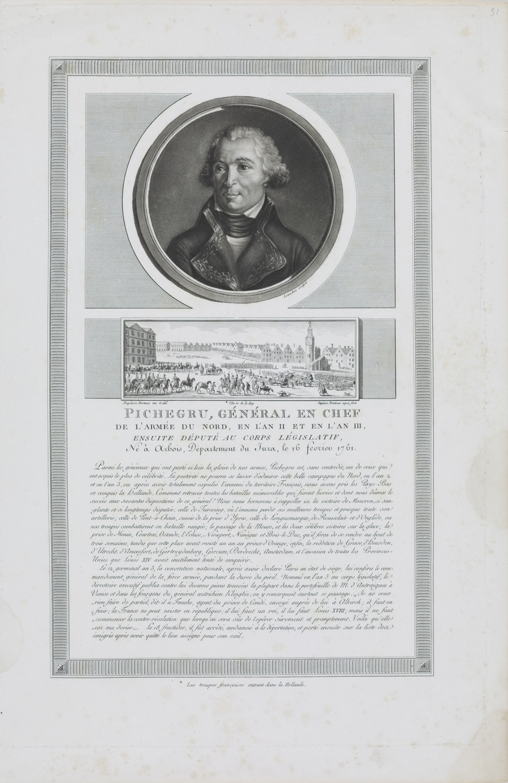 Pichegru, général en chef de l'armée du Nord, en l'an II et en l'an III, du recueil des Tableaux historiques de la Révolution française (1791-1817)