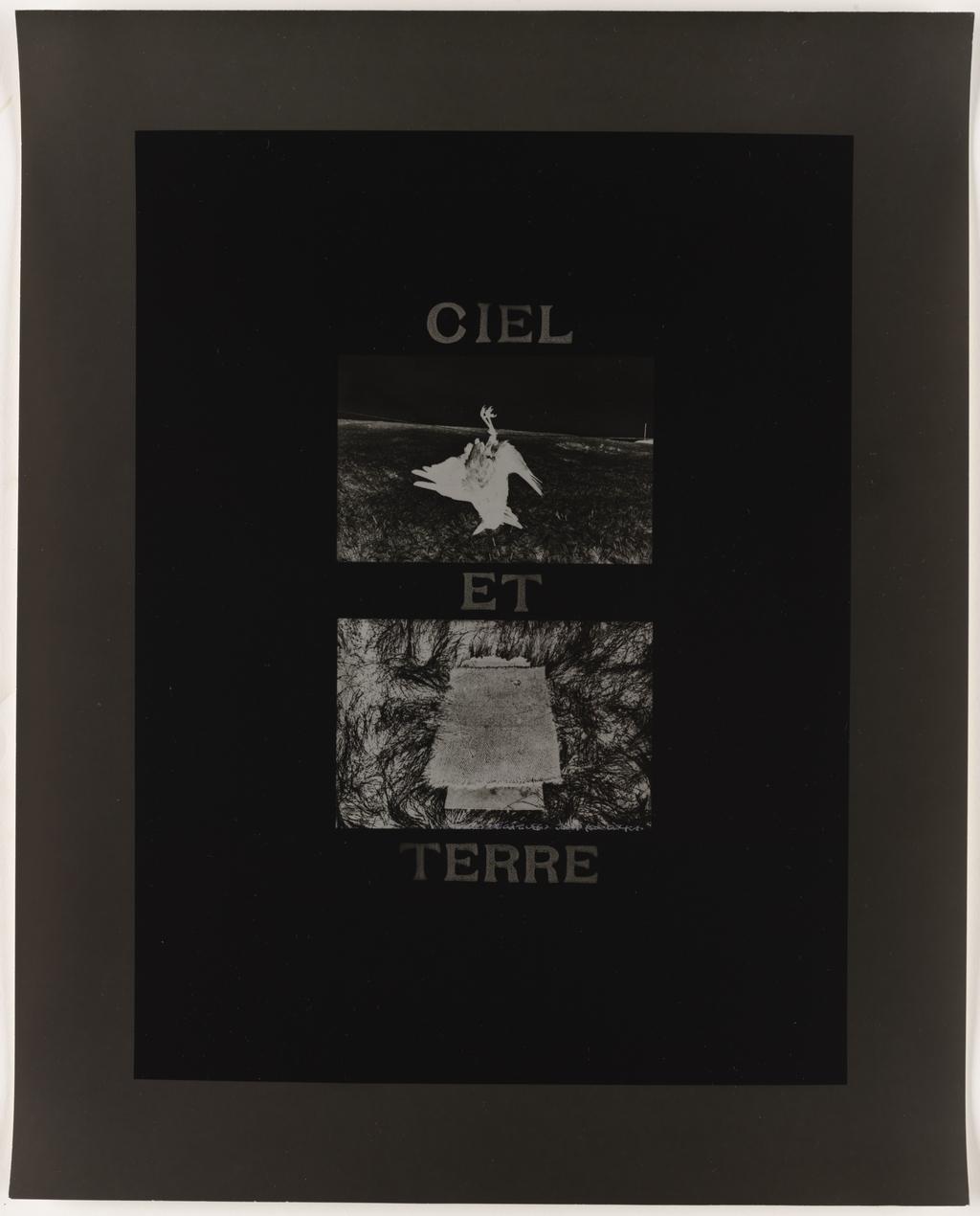 Images négatives : Josef Koudelka, extraits de l'album Photo poche, Paris, « Ciel et terre », 1988, de la série Les Tremblements du coeur, première séquence 3/8