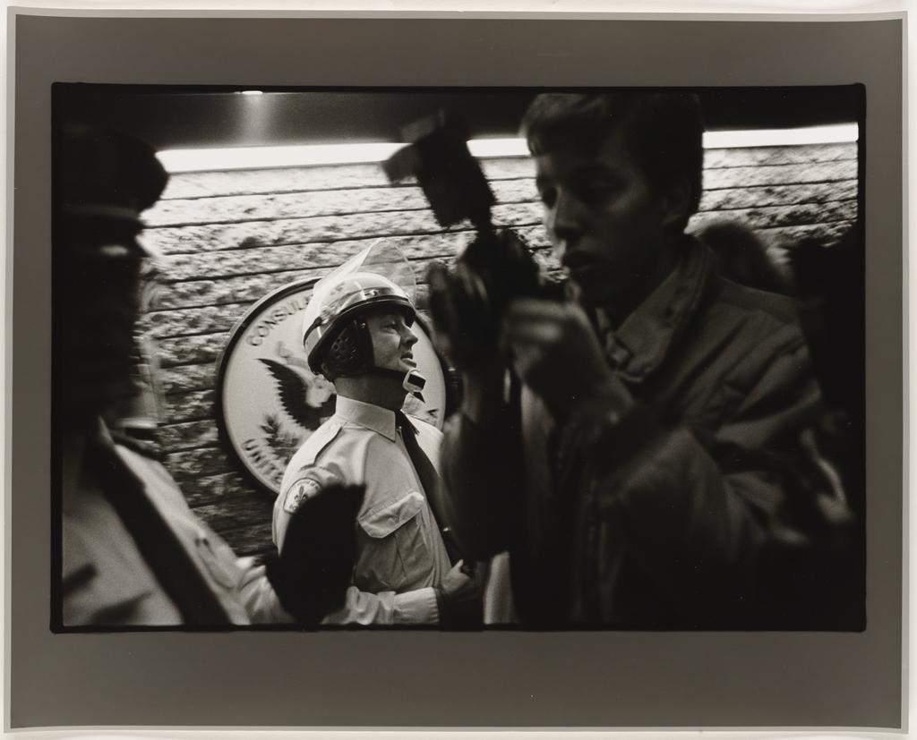 Manifestation pour la paix, Montréal, 1983, de la série Les Tremblements du coeur, troisième séquence 5/8