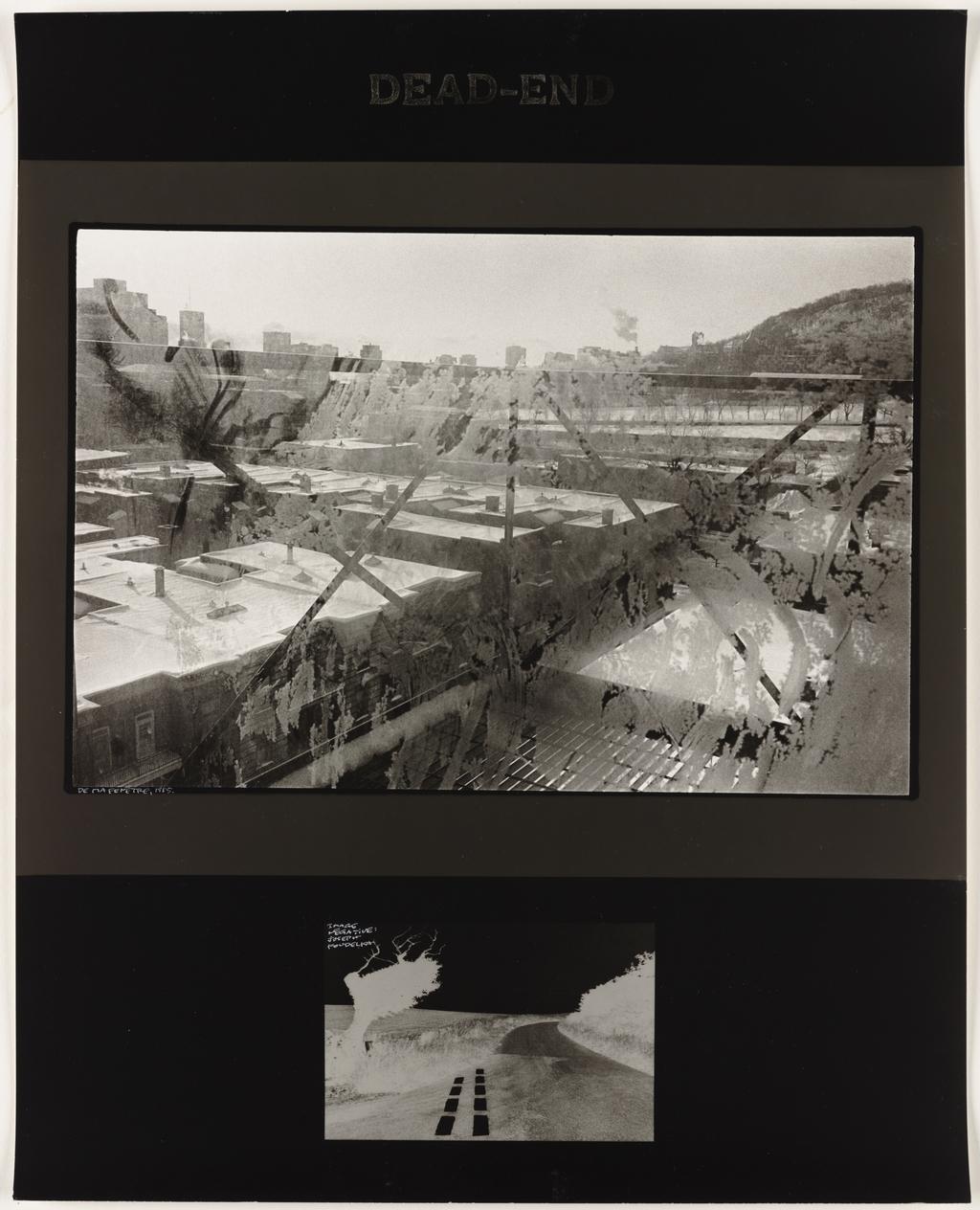 Fenêtre, 1985 (haut); Image négative : Josef Koudelka, extrait de l'album Photo poche, Paris, « Dead-end », 1988 (bas), de la série Les Tremblements du coeur, troisième séquence 7/8